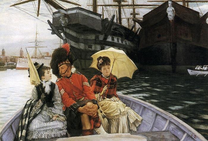 Как леди Викторианской Англии добились возможности посещать общественные туалеты. Картина Джеймса Тиссо.