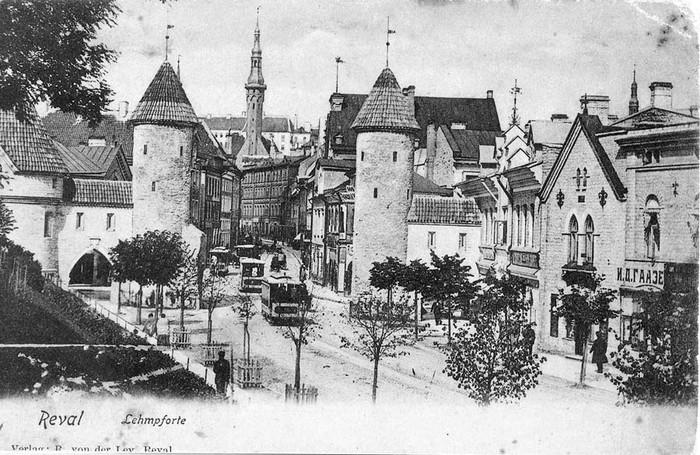 Таллин (Ревель на карте того времени) в 1899 году.