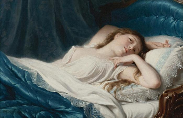 Средневековая Франция и другие места и эпохи, где не боялись женской груди. Картина Луи-Жана Франсуа Лагрене.