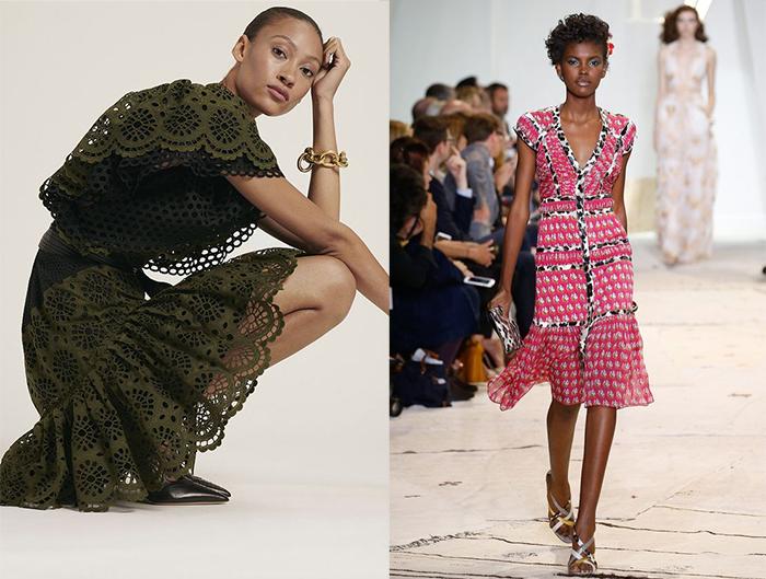 Платья из новых коллекций бренда.