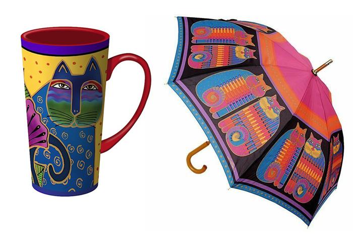 Кружка и зонт с рисунками Лорел.