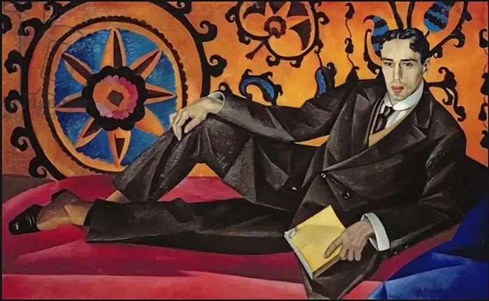 Портрет поэта Константина Липскерова.