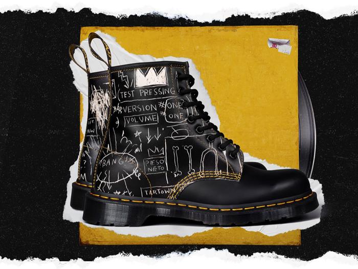 Современная модель ботинок. Дизайн - совместно с художником Жаном-Мишелем Баскией.