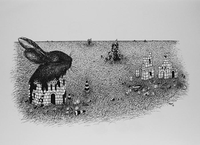Цикл сюрреалистических работ Тойен посвящен родной Чехии.