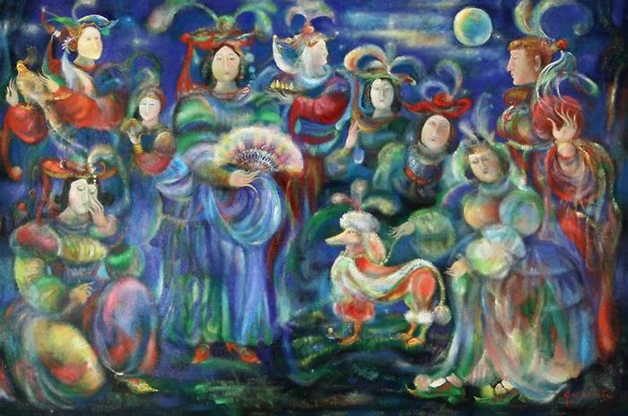 Гаянэ Хачатурян изображала праздники и процессии.