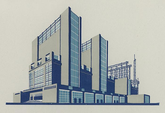 Чернихов не только рисовал здания, но и руководил строительством.