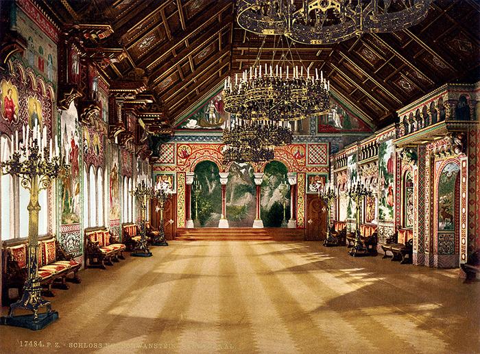 Гравюра с изображением певческого зала.