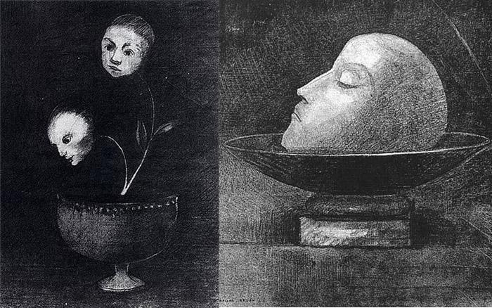 Творчество французских декадентов сильно повлияло на Редона.