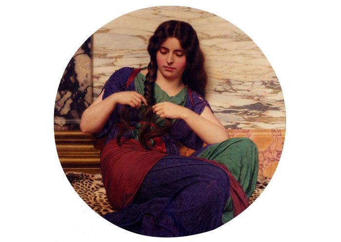 Годвард стремился воссоздать образы римлянок античных времен.