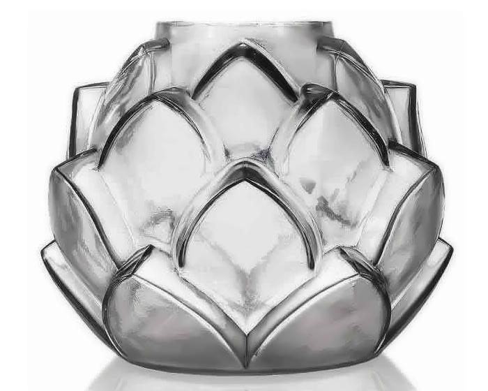 Стеклянная ваза, дизайнер - Рене Лалик.