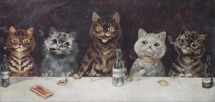 Уэйн создал целый кошачий мир.