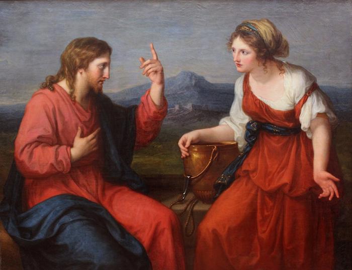 Иисус и самарянка у колодца Иакова.