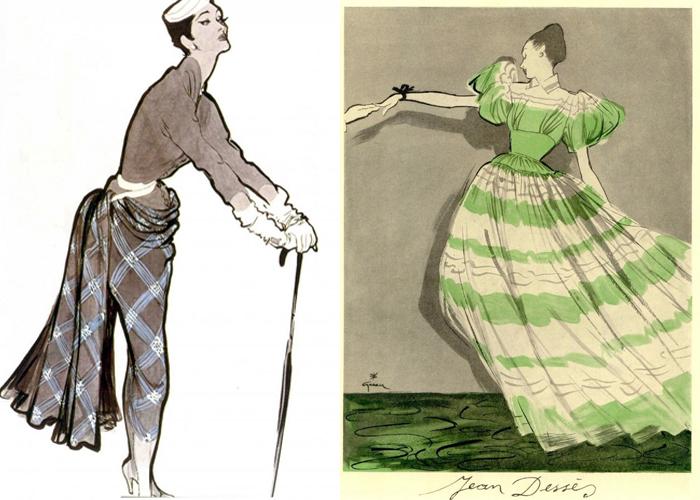 Грюо рисовал парижских модниц.