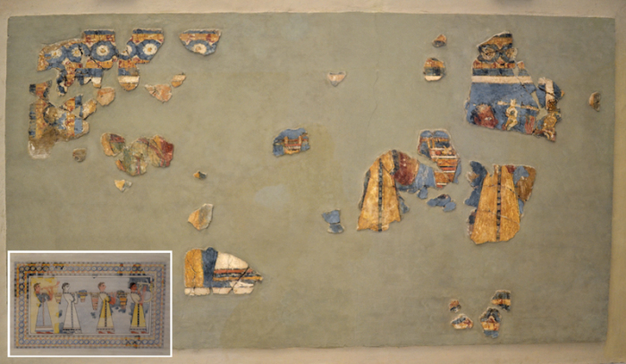 Реальное состояние критских фресок.