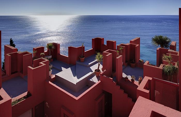 La Muralla Roja и вид с ее крыши.