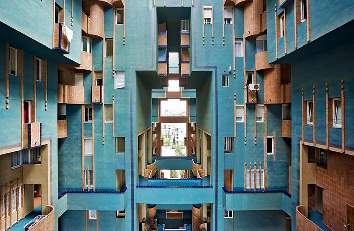 Жилой комплекс WALDEN 7 в Барселоне. Внутренняя часть.