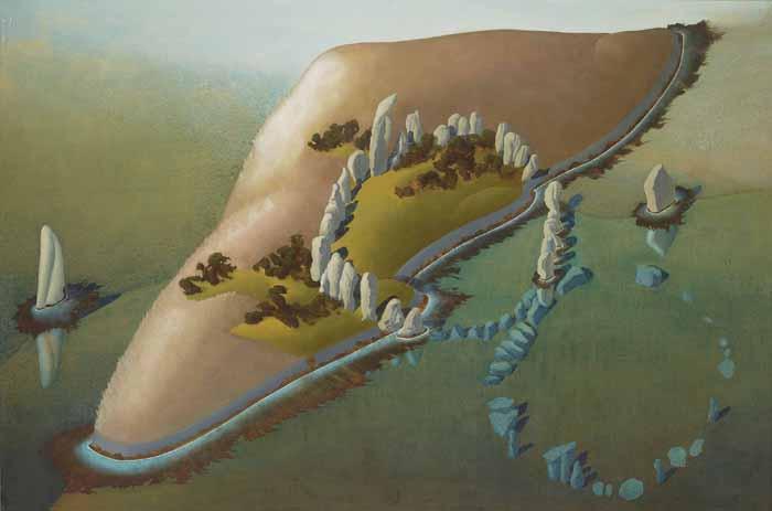 Сюрреалистический пейзаж. Можно заметить сходство с человеческими органами.
