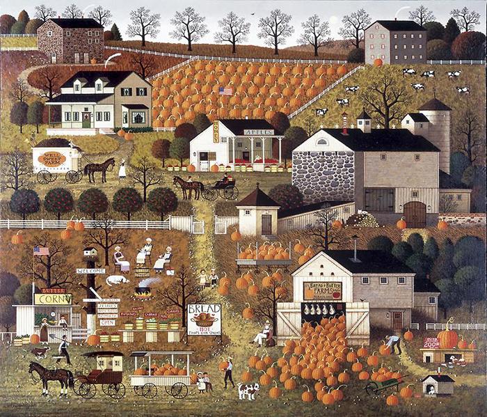 Высоцки всю жизнь искал простоты и тишины, а потому рисовал простую фермерскую жизнь.