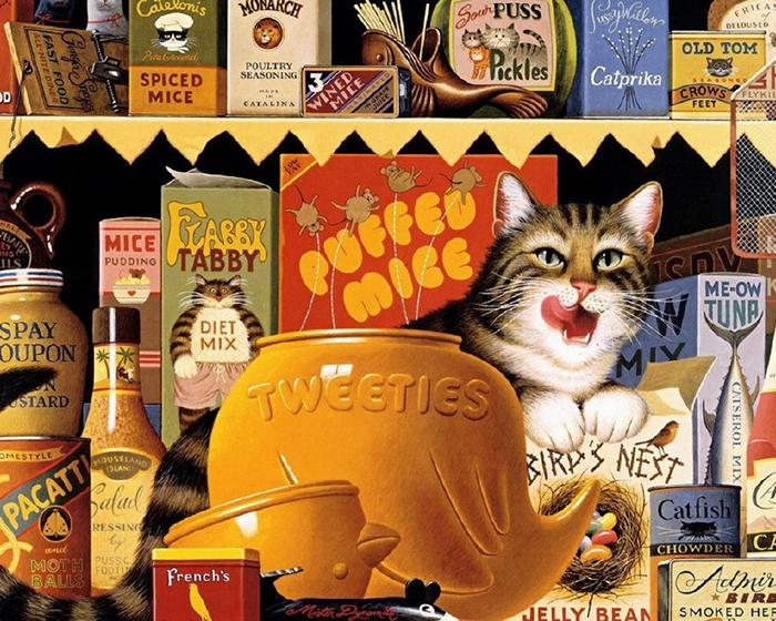 Высоцки очень любил и часто писал кошек.