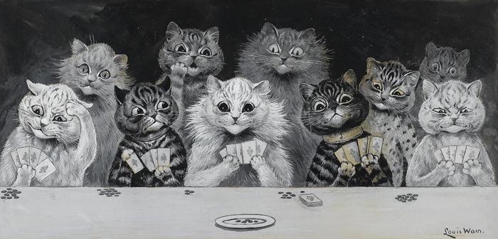 Кошки Уэйна не всегда примерно ведут себя...