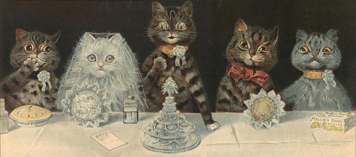 Кошки Луиса Уэйна стали похожи на людей.