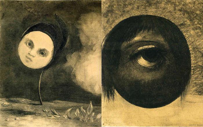 Жуткие рисунки Одилона Редона.