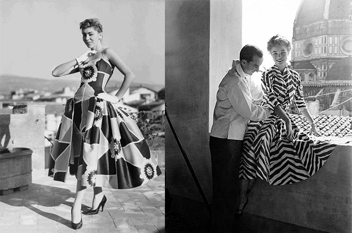 Платья от Пуччи 50-х годов.