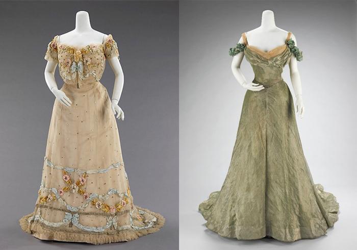 Платья от Жака Дусе с рокайльными мотивами.