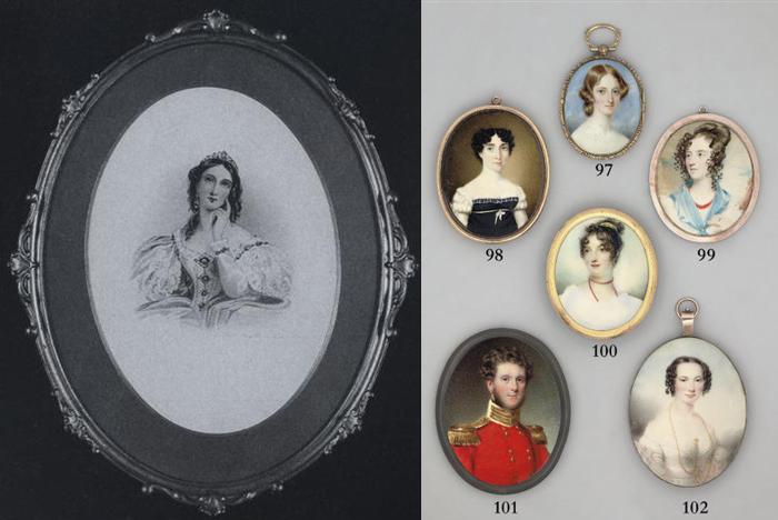 Портреты Сары Биффен для медальонов.