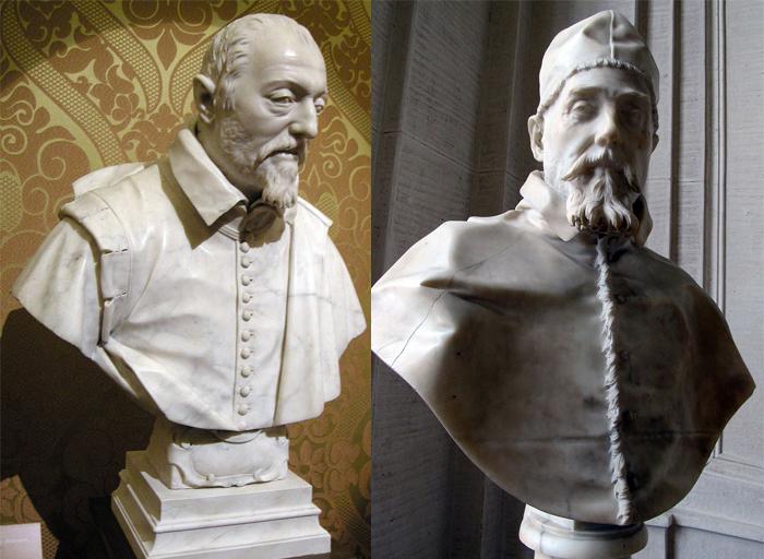 Скульптурные портреты, созданные Лоренцо Бернини.