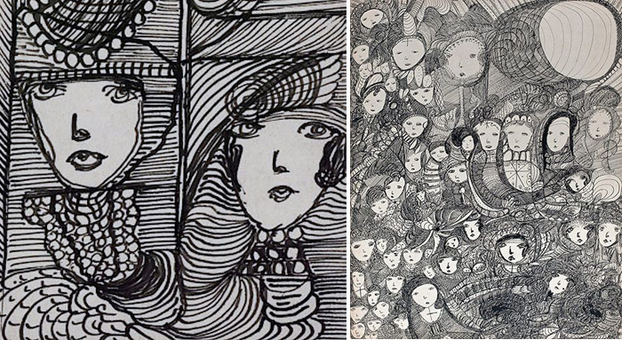 Рисунки Мадж - портреты призраков...