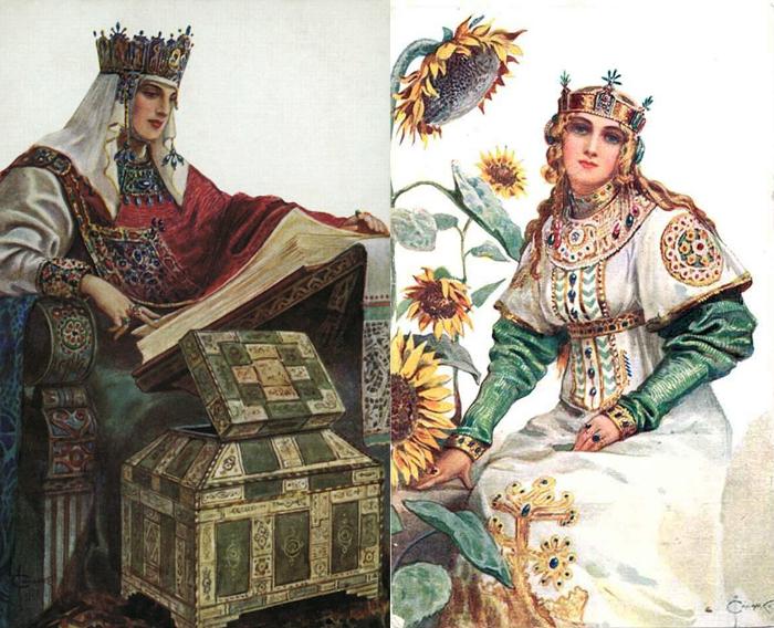 Неорусские костюмы в работах Соломко.
