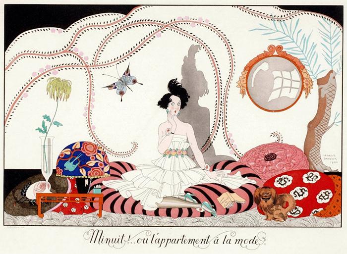 Иллюстрация Жоржа Барбье с отсылкой к шинуазри.