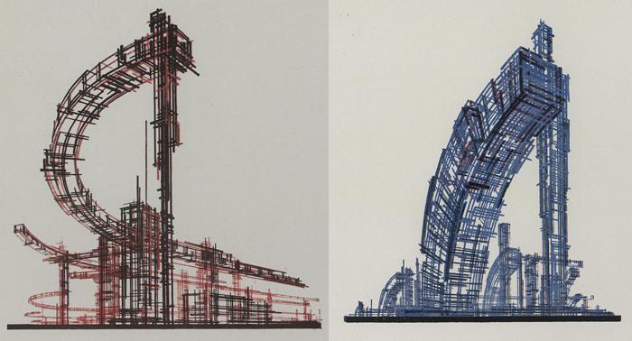 Рисунки, обнажающие конструкцию здания.