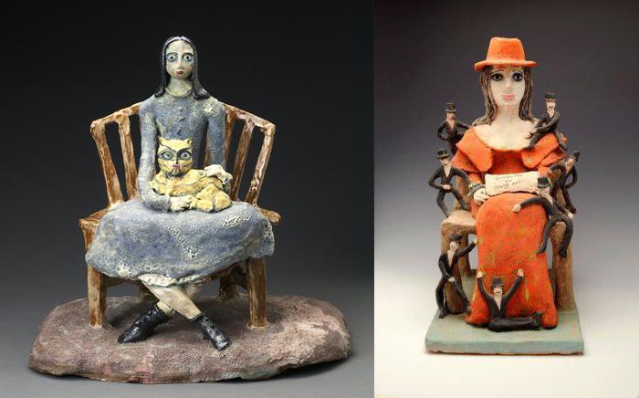 Скульптуры Беатрис Вуд.