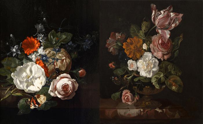 Натюрморт с цветами на столе. Цветы в вазе.