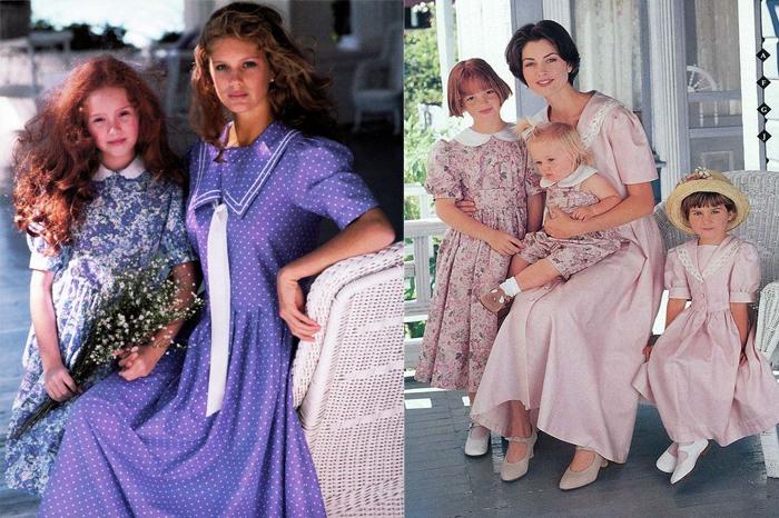 Family look - единый стиль одежды для всей семьи - тоже изобретение Лоры Эшли.
