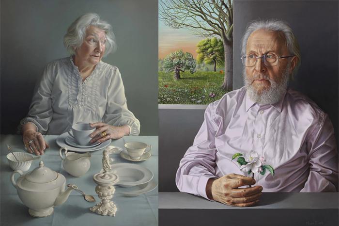 Ангел за моим столом (портрет матери). Портрет отца.