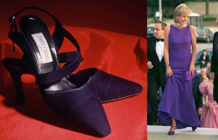 Принцесса Диана в туфлях Jimmy Choo.