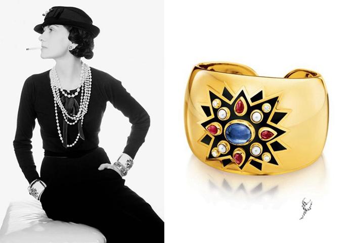 Шанель и браслеты с мальтийским крестом.