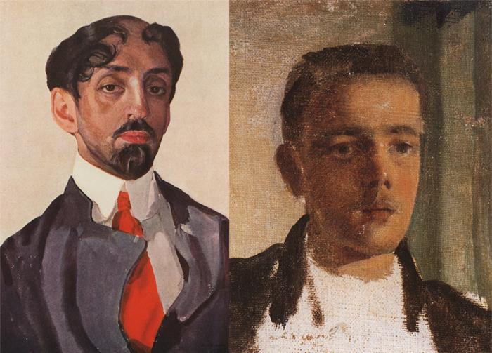 Портреты поэта Михаила Кузмина и Сергея Дягилева.