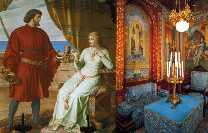 Средневековые мотивы в интерьерах замка.