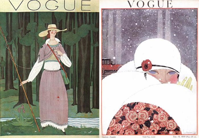 Иллюстрации для обложек Vogue.