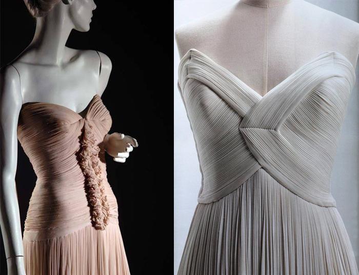 Платья мадам Гре держали форму за счет кроя, а не жестких конструкций.