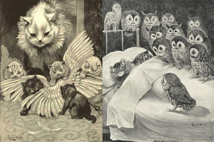Рисунки Луиса Уэйна.