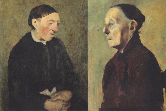 Портреты старых женщин, написанные Паулой.