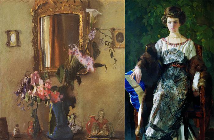 Натюрморт и женский портрет.