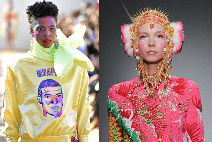 Необычный макияж моделей на показе Ароры.
