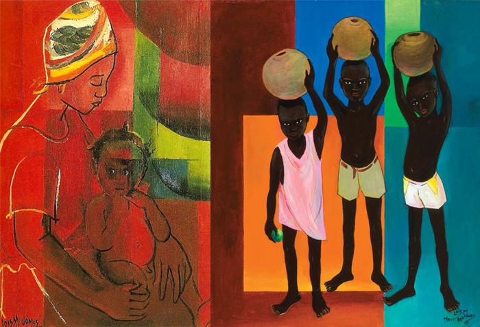 Лоис совмещала приемы африканского искусства и европейского модернизма.