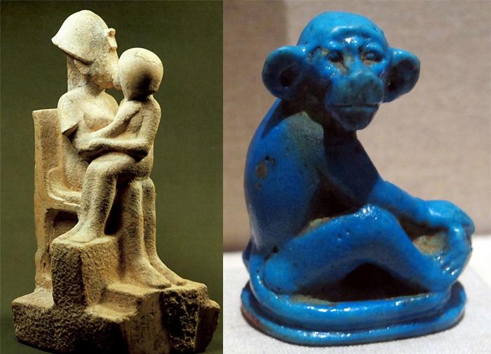 Семейная сценка и забавное животное. Характер скульптуры становится все более светским.